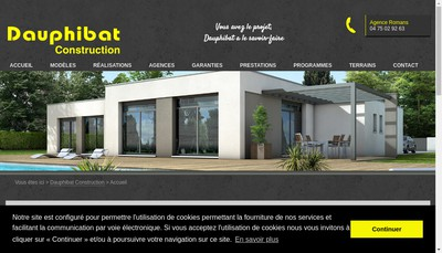 Site internet de Dauphibat Construction