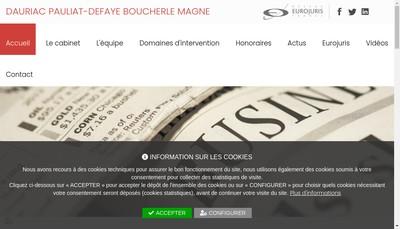 Site internet de Dauriac Pauliat-Defaye Boucherle Magne