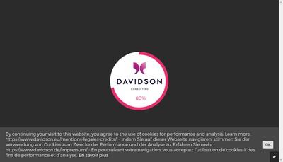Site internet de Davidson Consulting