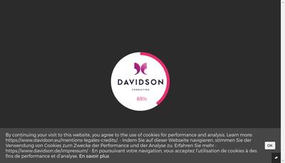 Site internet de Davidson 15