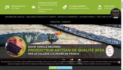 Site internet de David Vanille
