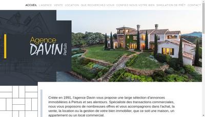 Site internet de Davin Immobilier