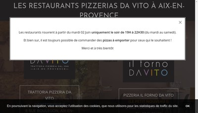 Site internet de Da Vito