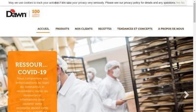 Site internet de Unifine Food et Bake Ingredients