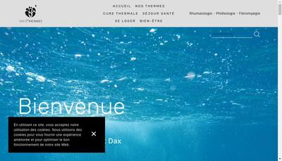 Site internet de Dax O Thermes