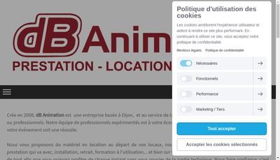 Site internet de SARL Db Animation