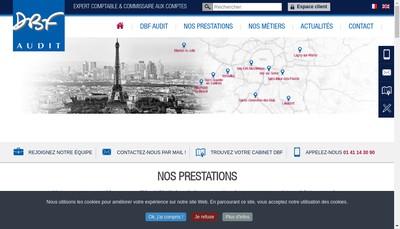 Site internet de Dbf Audit