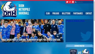 Site internet de Dmh (Dijon Metropole Handball)