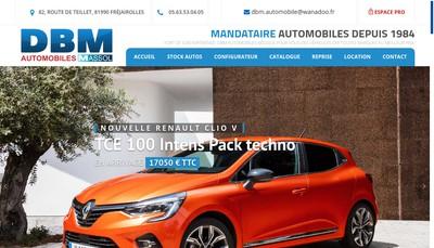 Site internet de Massol Dbm Automobiles