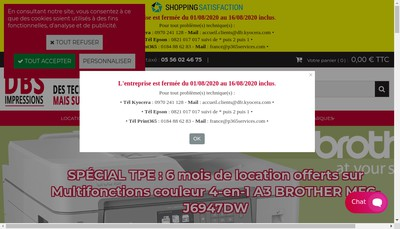 Site internet de Dbsolutions