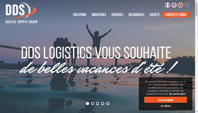 Site internet de Dds Logistics