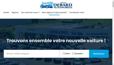 Site internet de Debard Automobiles
