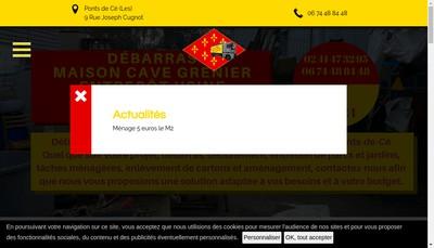 Site internet de Debarras Anjou Aubance Express