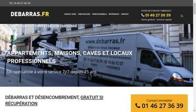 Site internet de www.debarras.fr