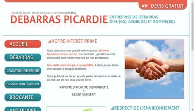 Site internet de Debarras Picardie