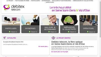 Site internet de Debitex Telecom