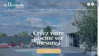 Site internet de SARL de Boislaville Paysage