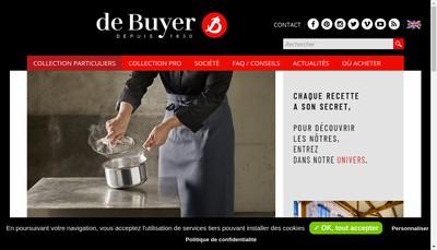 Site internet de De Buyer Industries