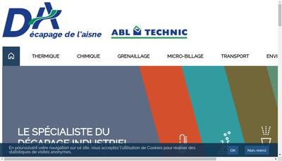 Site internet de Decapage de l'Aisne