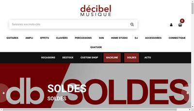 Site internet de Decibel Musique