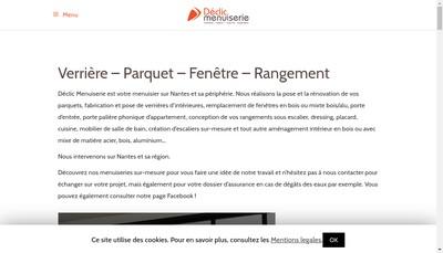 Site internet de Declic Menuiserie