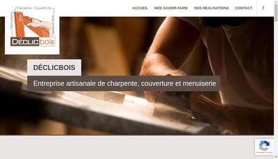 Site internet de Declic Bois