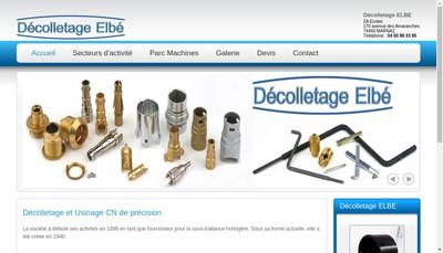 Site internet de Decolletage Elbe