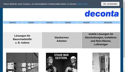 Site internet de Deconta
