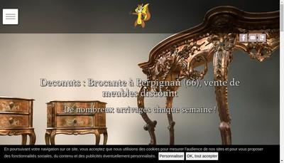 Site internet de Deconuts