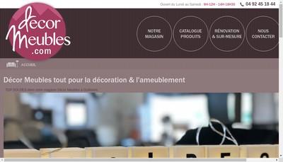 Site internet de Decor Meubles