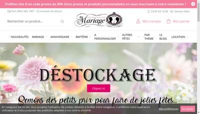 Site internet de Decoarations de Mariage