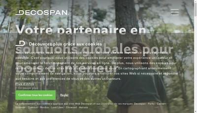 Site internet de Decospan France