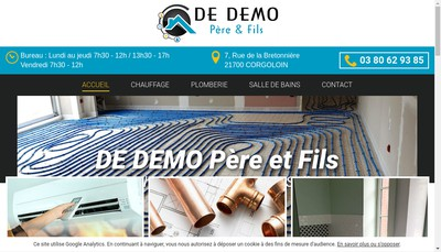Site internet de Sani Corgo By de Demo