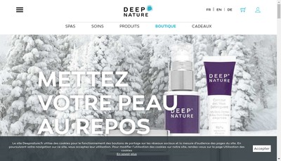 Site internet de Deep Nature Bois aux Daims