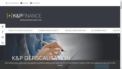 Site internet de K&P Defiscalisation