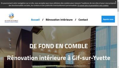 Site internet de De Fond en Comble