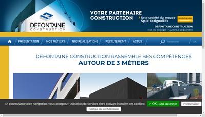 Site internet de Defontaine