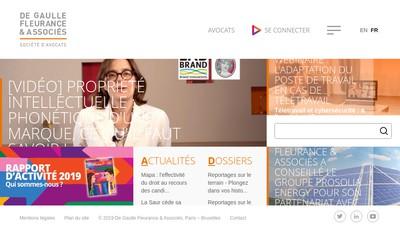 Site internet de De Gaulle Fleurance & Associes