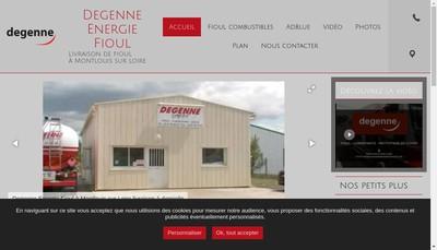 Site internet de Degenne Energie Fioul