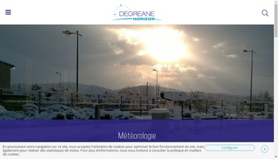 Site internet de Degreane Horizon