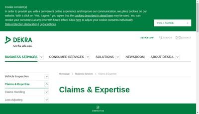Site internet de Dekra Automotive Solutions France