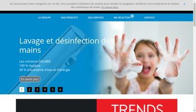 Site internet de Delabie