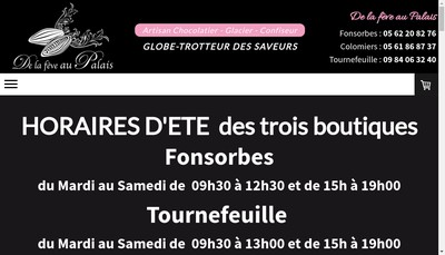Site internet de De la Feve au Palais
