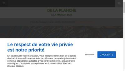 Site internet de De la Planche a la Maison Bois