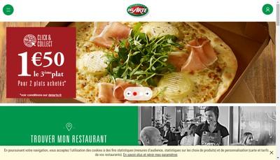 Site internet de Pizza Del Arte