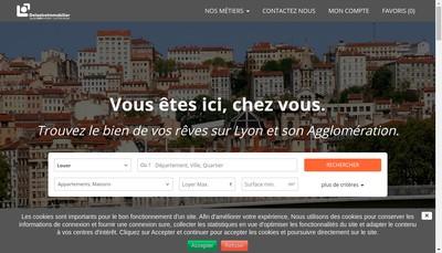Site internet de Delastre Immobilier