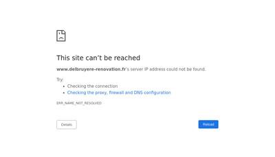 Site internet de Delbruyere Renovation
