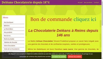 Site internet de SARL Deleans