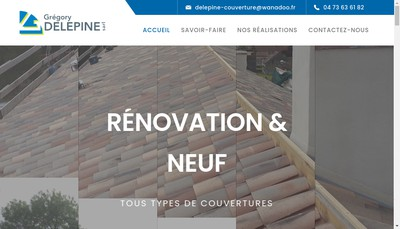 Site internet de SARL Delepine