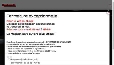 Site internet de Delerue l'Experience Moto